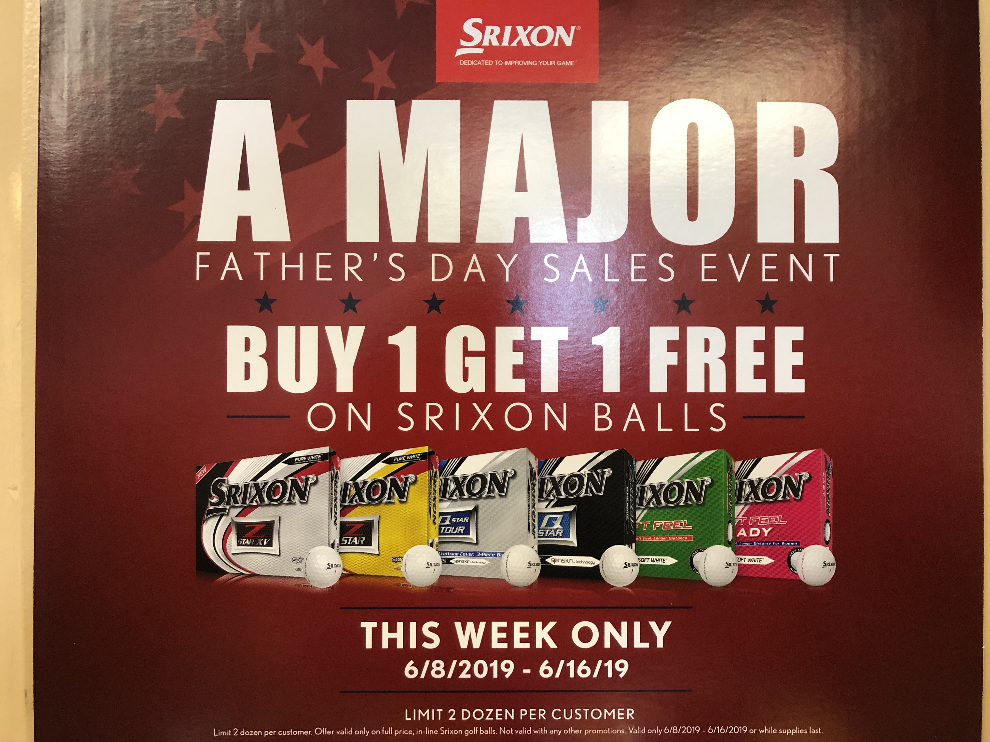 Father's Day Sale: Buy 1 Get 1 Free Srixon Balls